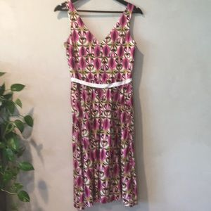 Laundry By Shelli Segal Dresses - Laundry cotton fuchsia ivory and  brown dress